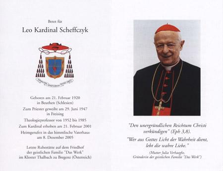 Verstorbene Kardinäle
